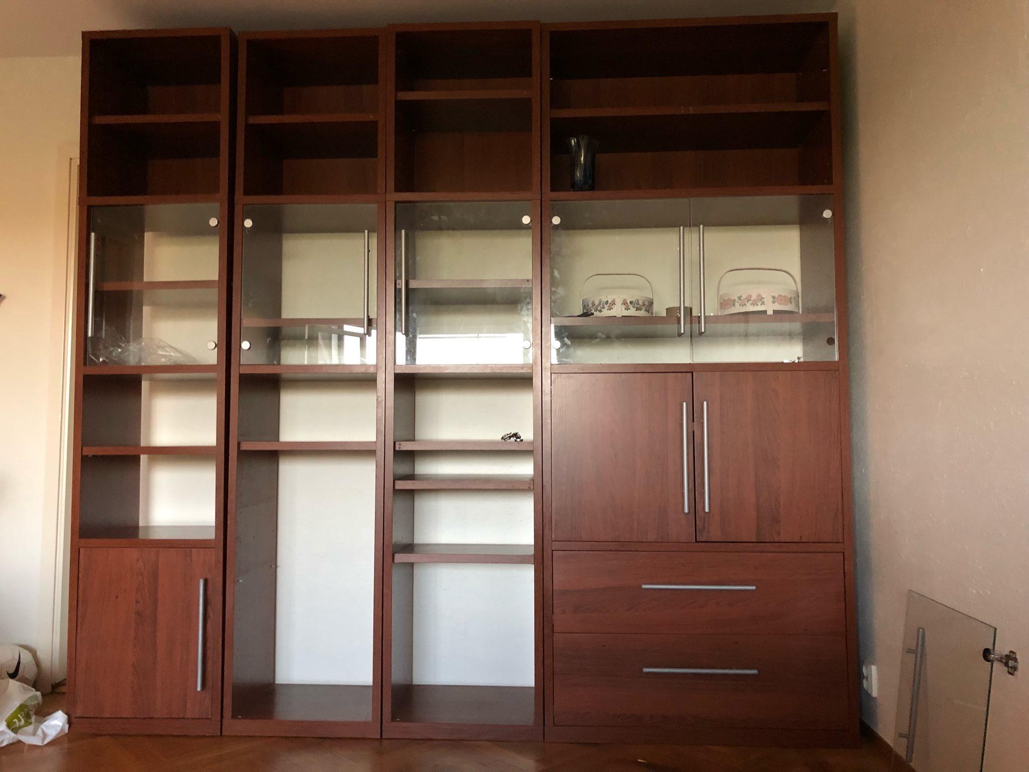 bokhylla med förvarings- vitrinskåp (321827950) ᐈ köp på tradera