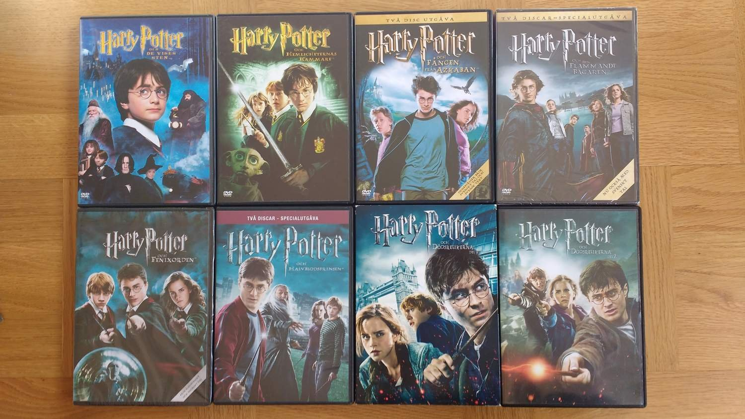 harry potter samling dvd
