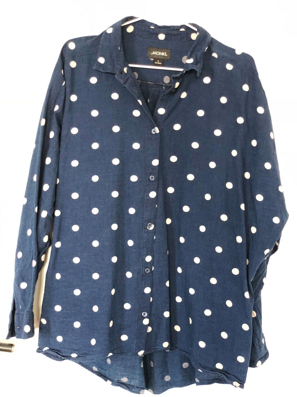 Prickig skjorta MONKI jeans denim (327310033) ᐈ Köp på Tradera 15b2d21f58700