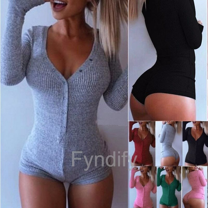 Jumpsuits Long Sleeve Sleeve Sleeve Bodysuit Shorts Svart Strlk XXL 40cfe8