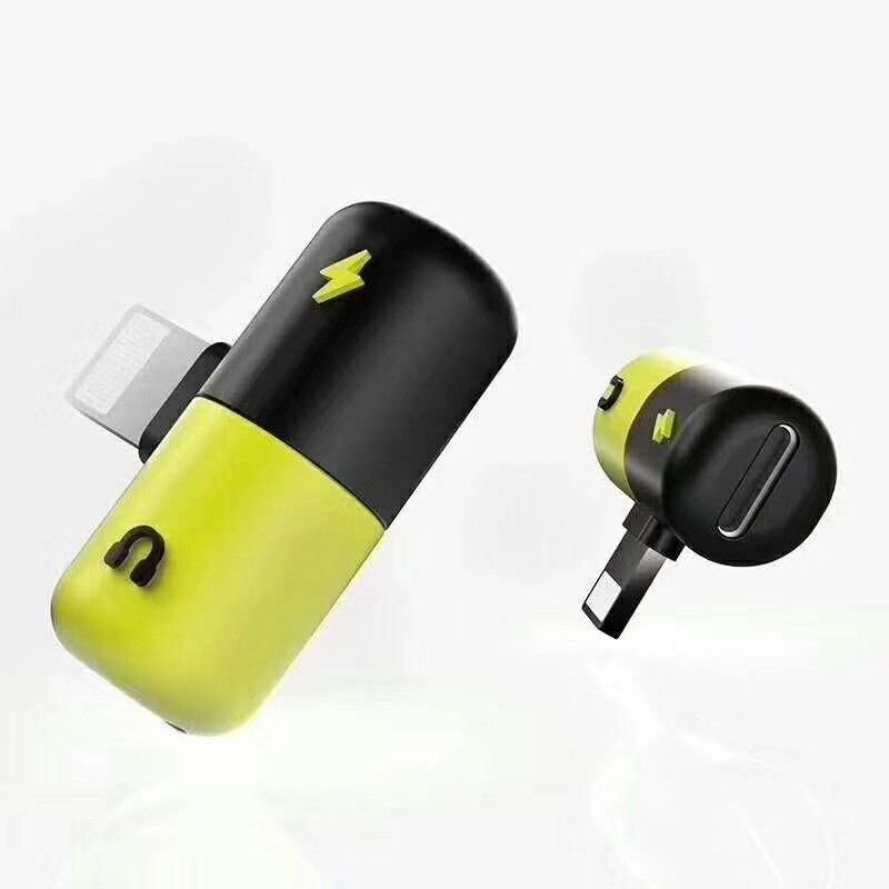 Dual 2in1 Lightning Headphone Audio & Charger Adapter