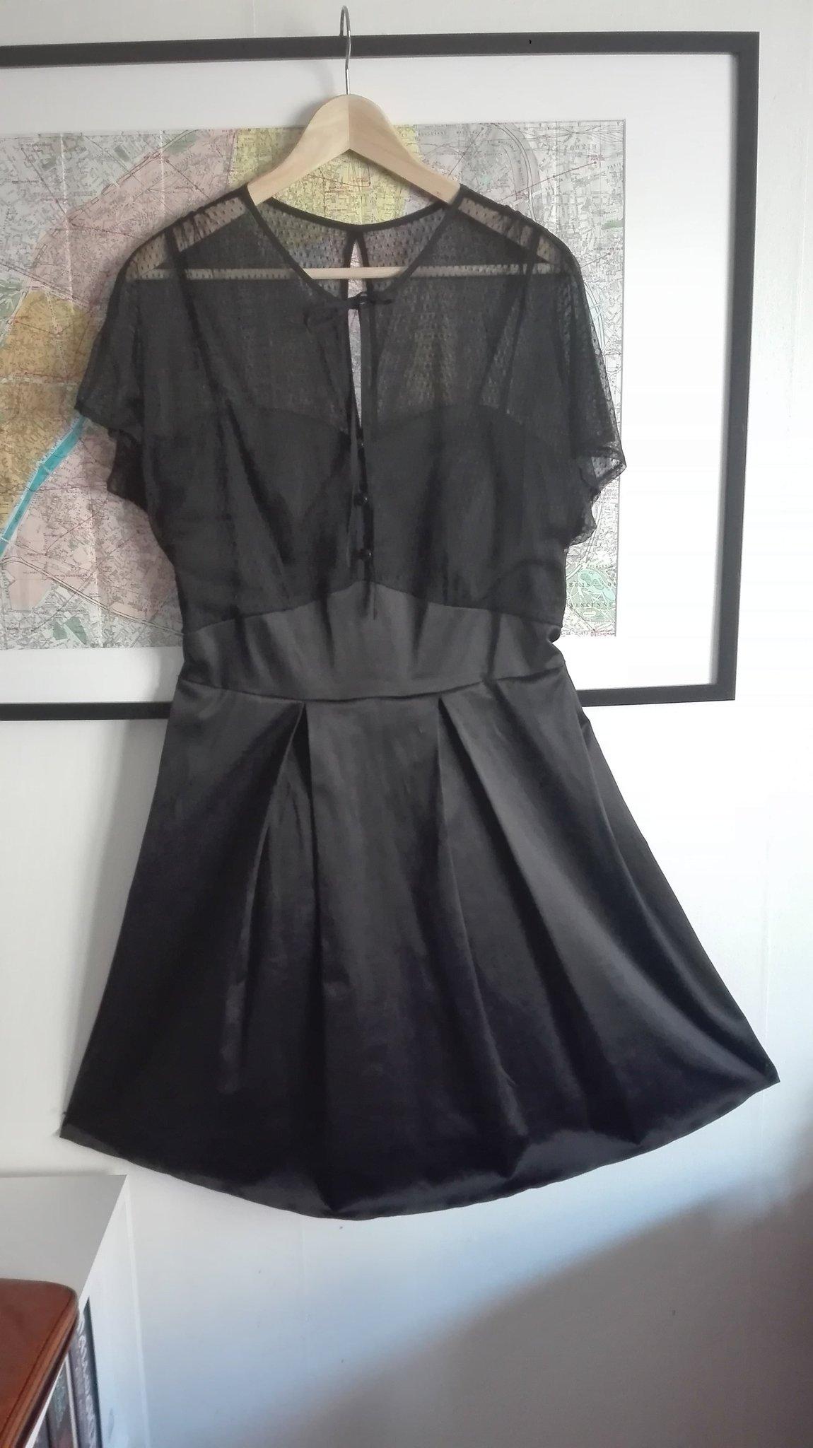 dd3a698540ea Retro vintage svart klänning, spets 50-tal, 60-.. (346969115) ᐈ Köp ...