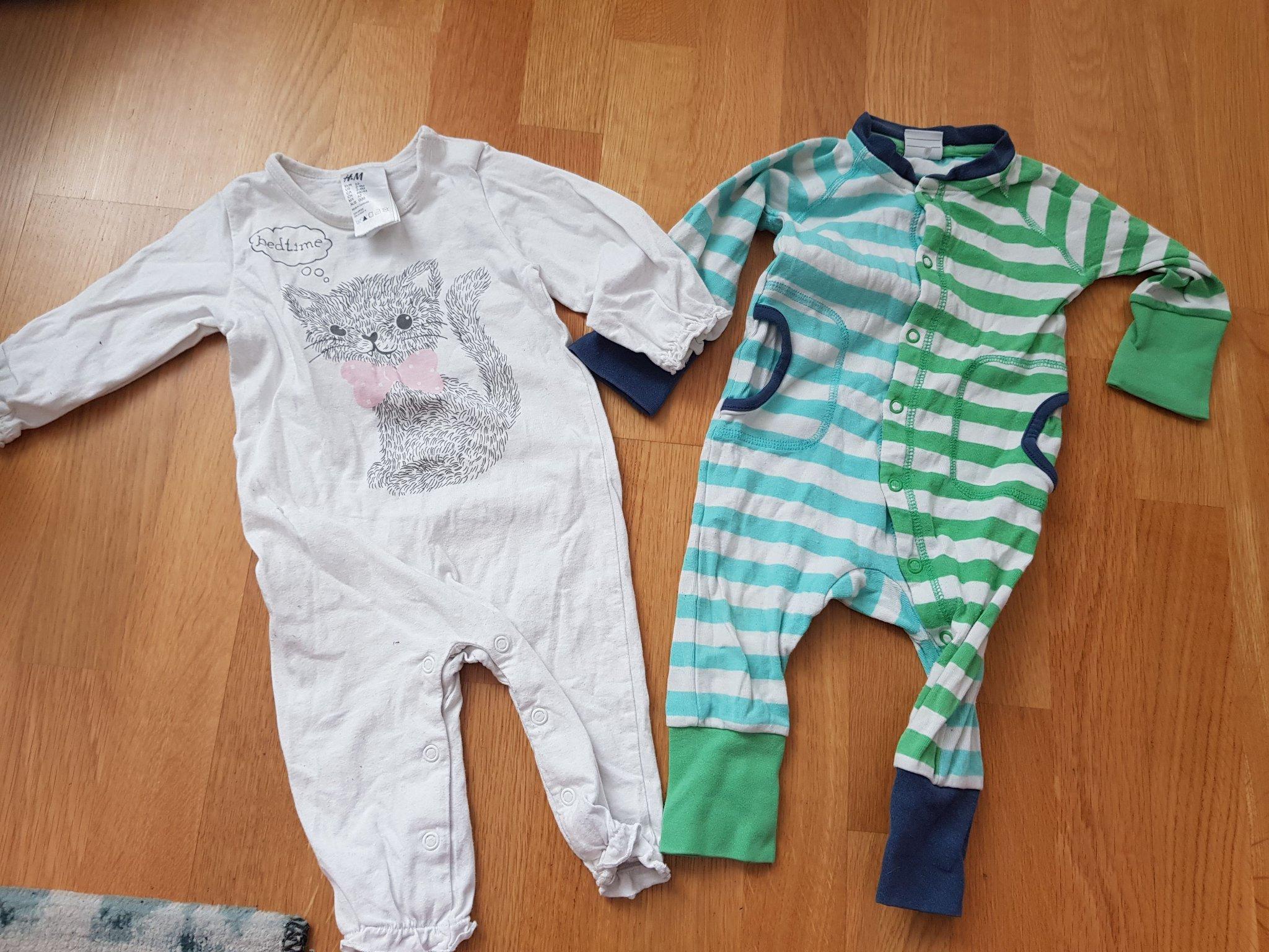 kortärmad pyjamas bebis