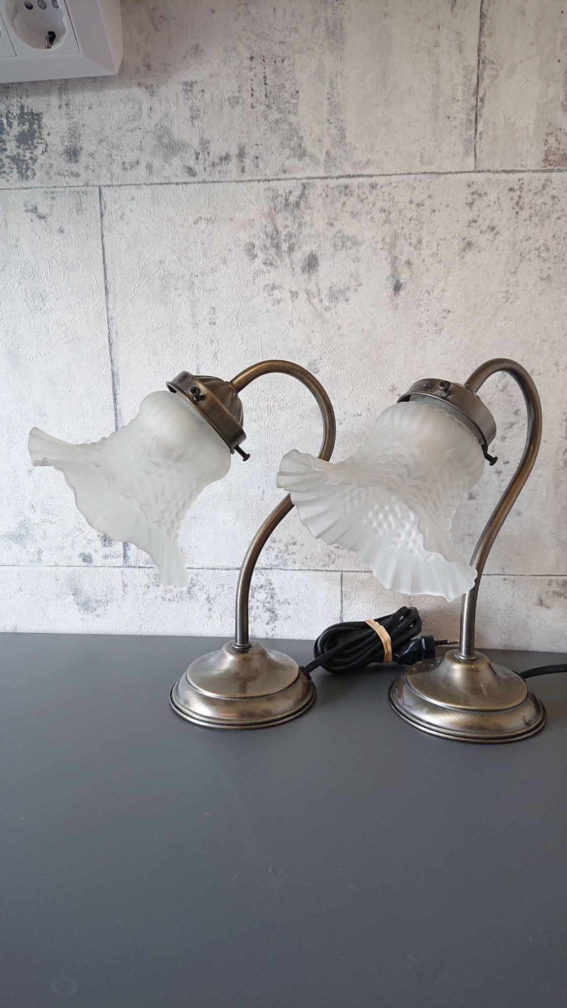 2 st. mini Bordslampor lampa fönsterlampa bordslampa