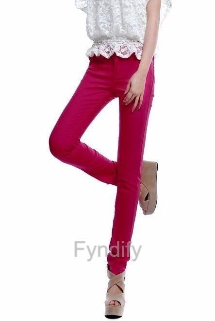 Skinny Jeans Stretch Pencil Pants Mörkrosa Strlk S S S fa39ca