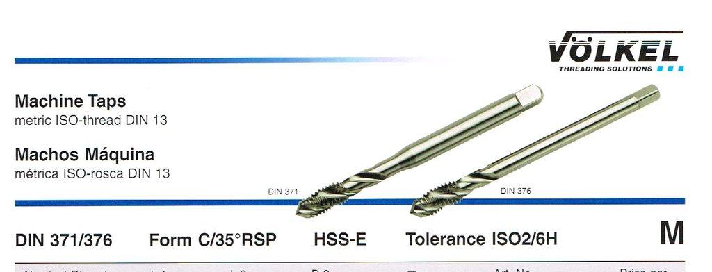 Spiral Gängtapp M 8 x 1.25 35º RSP DIN 371/376