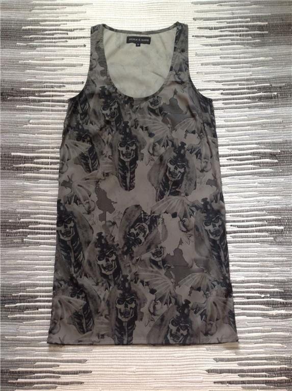 0e22b86fbc1f STORM & MARIE topp tunika klänning med dödskall.. (349944689) ᐈ Köp ...