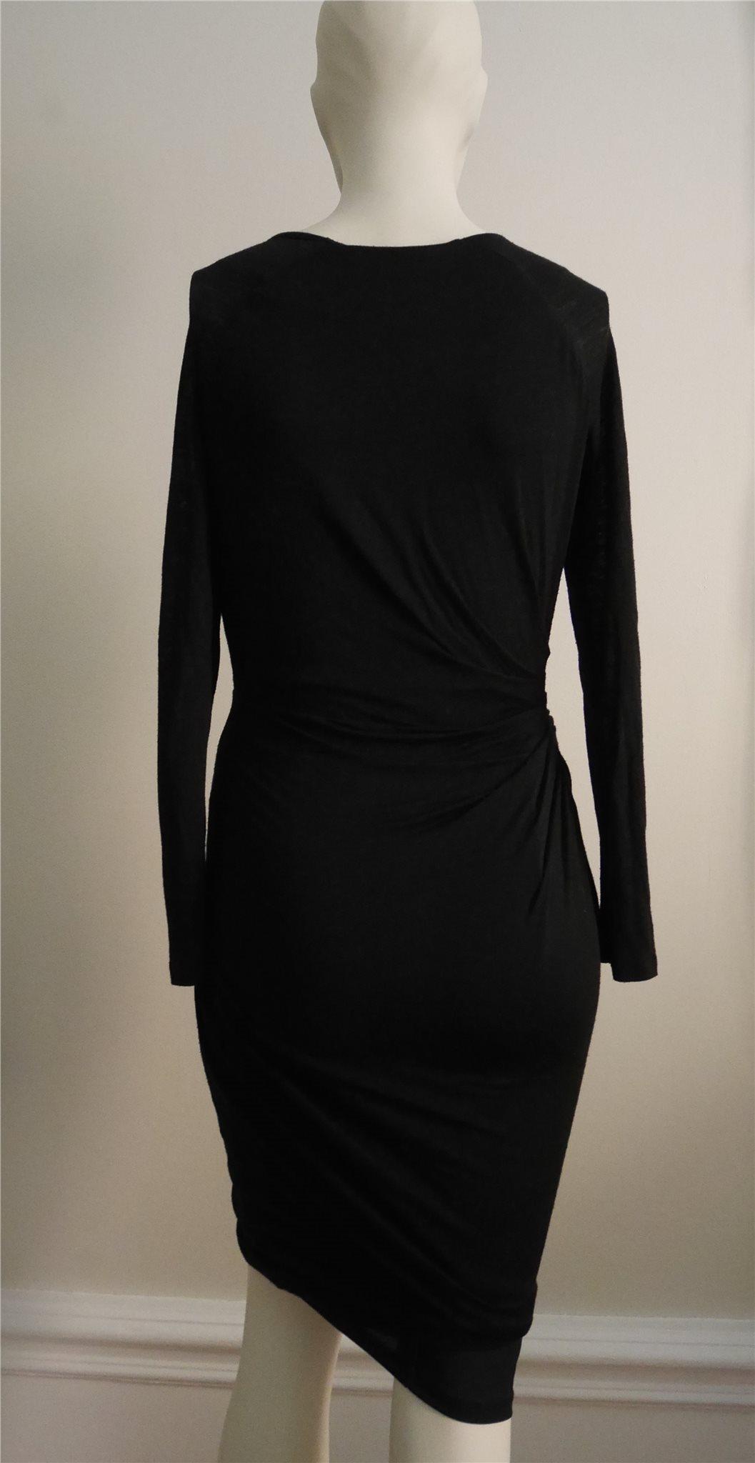 Den lilla svarta från Whistles LBD svart klänning ylle långärmad långärmad långärmad 38 S M 36 794de2