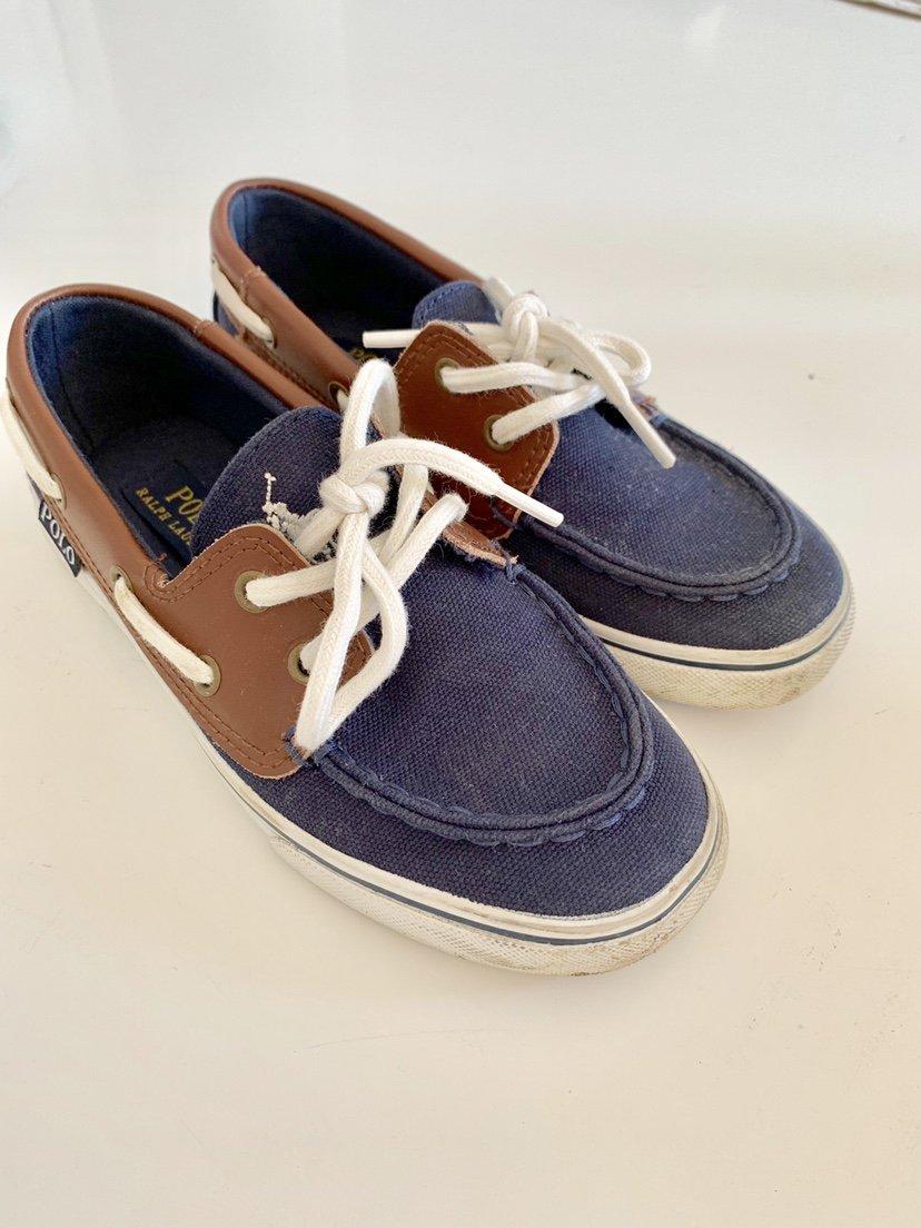 61bd90c0eab Ralph Lauren skor stl 31 barnskor canvas läder .. (348805293) ᐈ Köp ...