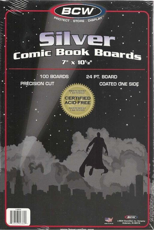 BCW Silver Comic Book Boards (100 st)