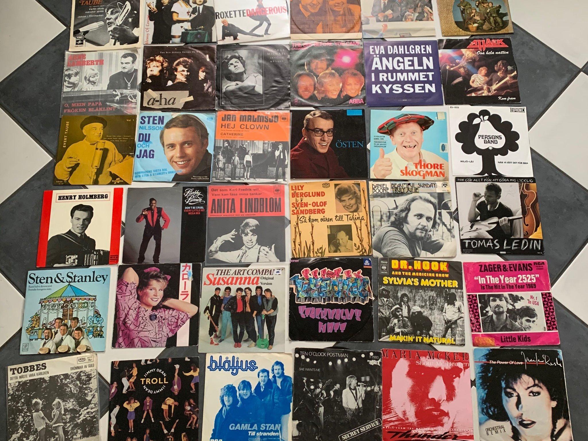 vinylskivor singlar singel kvinna i örsundsbro