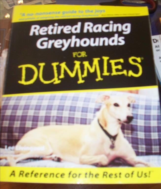 Gråhounds for dummies, på engelska, om pensionerade tävlingshundar