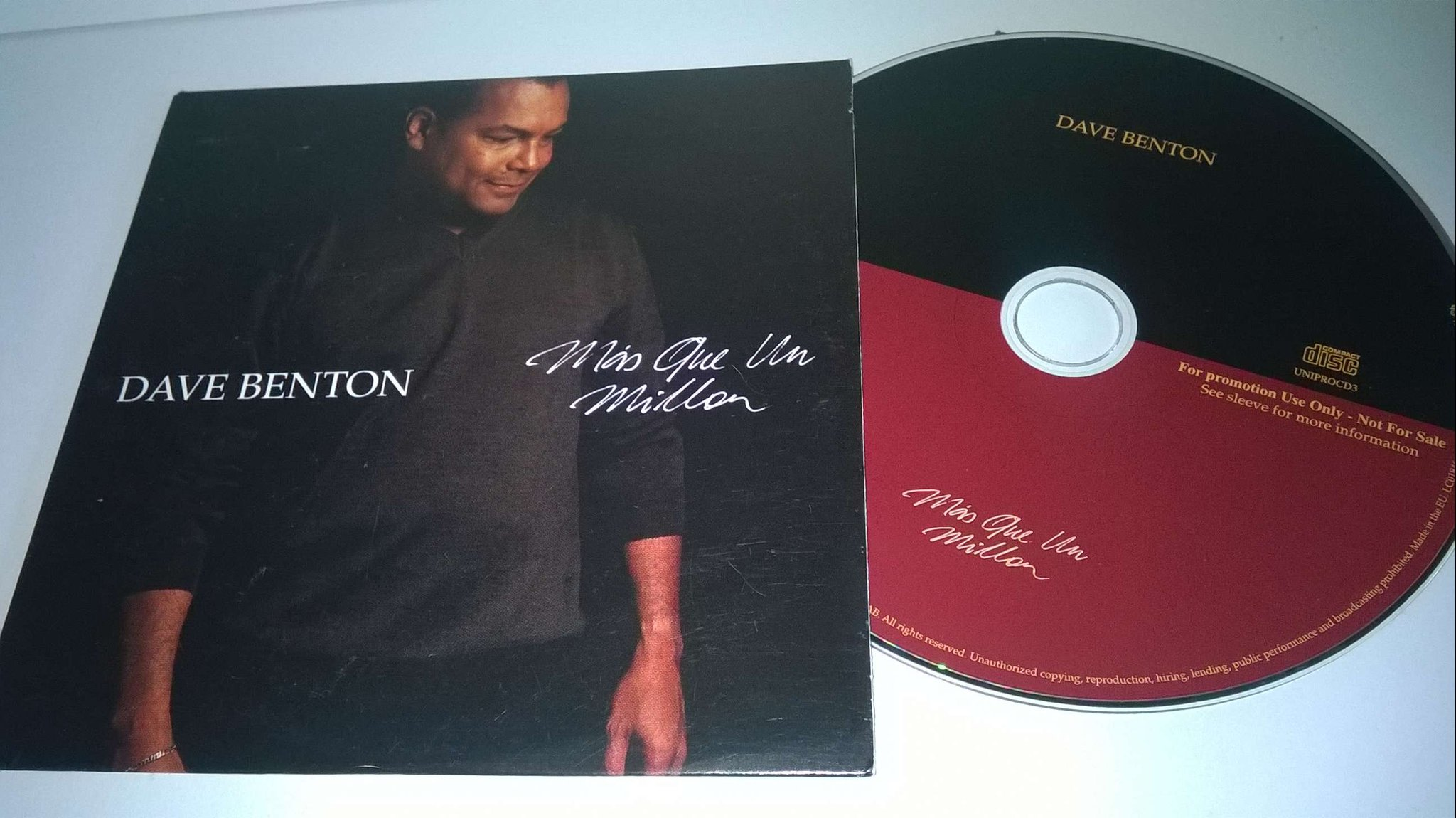 Dave Benton - Mis que un millon, single CD