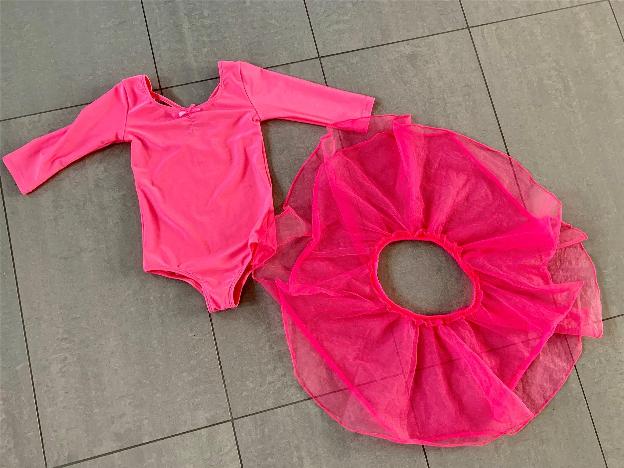 sports shoes 942e2 f0c72 NYTT dans   balett   gymnastik dräkt tyllkjol rosa 110   116 gymnastikdräkt  NY ...