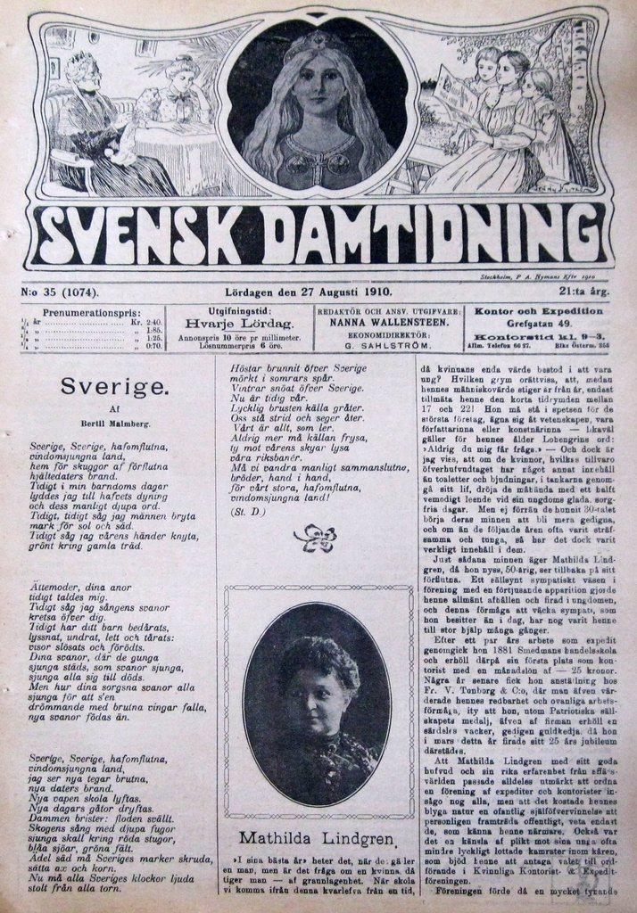 S-D 1910-35 Gräfsnäs Slottsdammen..Mathilda Lindgren