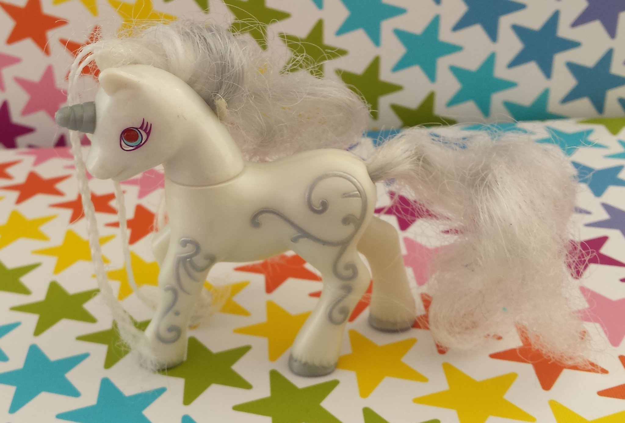 My Little Pony G2 Silver Swirl McDonalds enhörn   (357008204