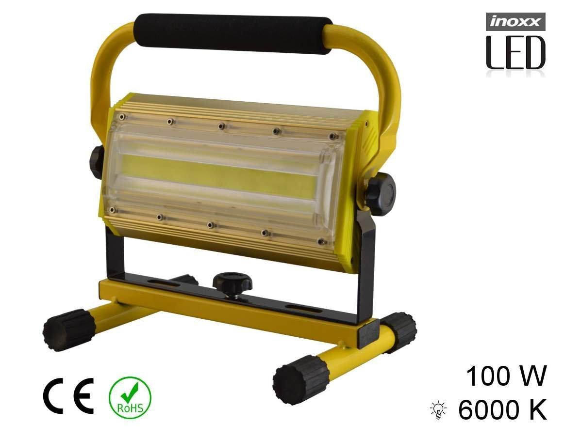 Bygglampa LED 100W portabel uppladdningsbar (399905347) ᐈ
