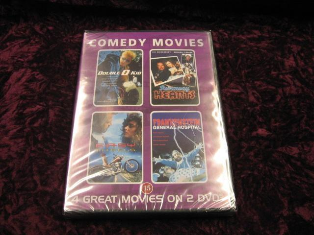 4 GREAT MOVIES COMEDY MOVIES  REG2 NY INPLASTAD