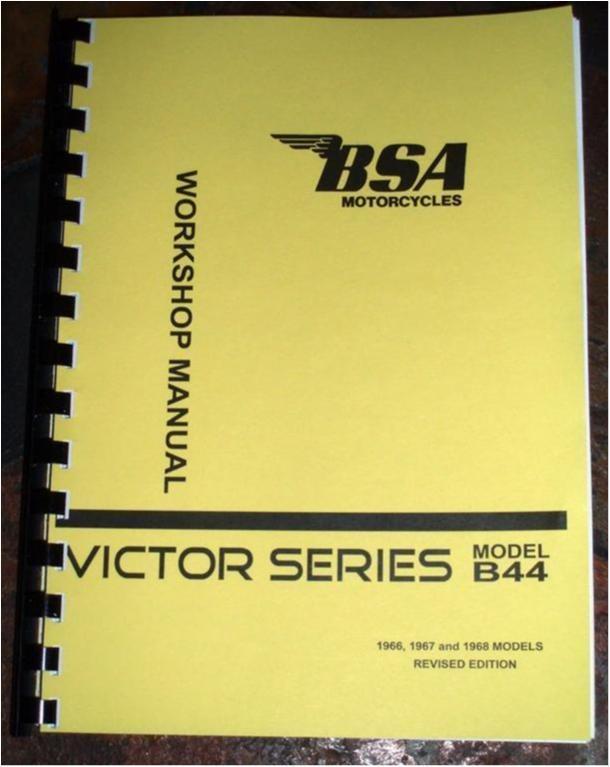 Verkstadshandbok BSA Victor B44 1966-1967-1968