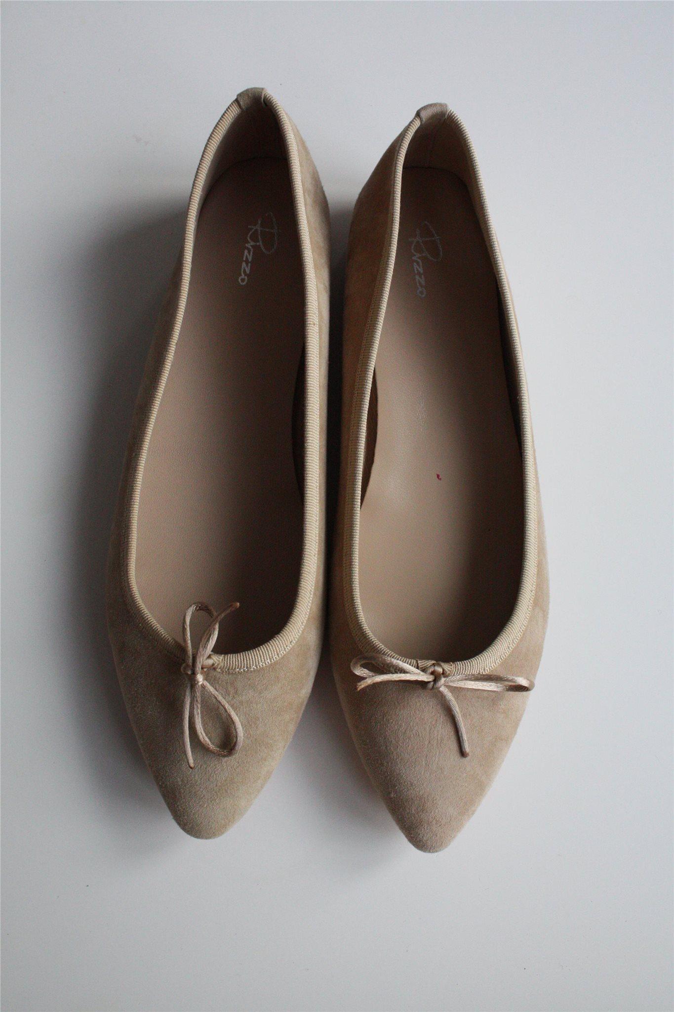 4206f2c5280 Ballerinaskor i mocka, Beige, Rizzo, stl 41, nya (338474728) ᐈ Köp ...