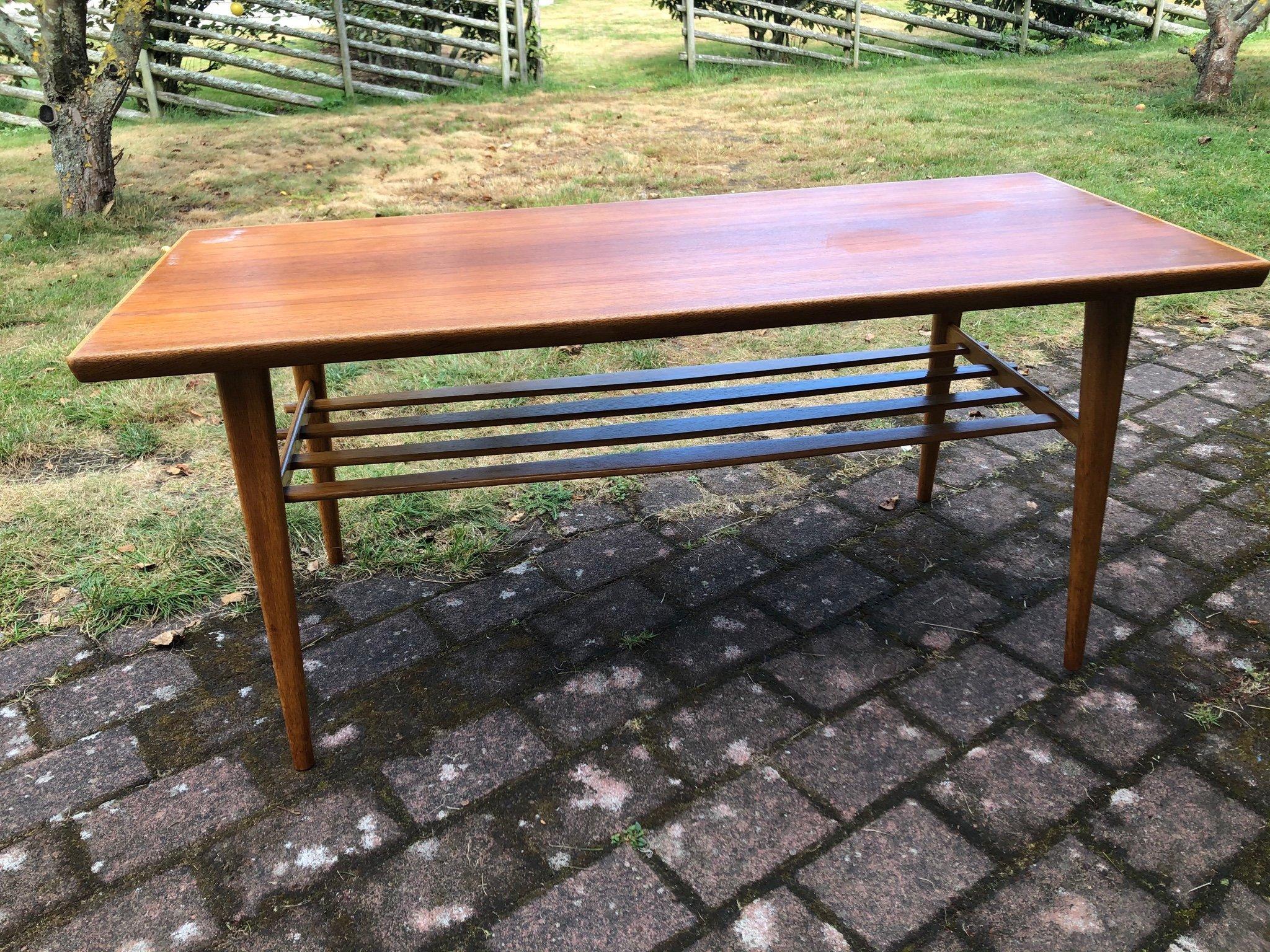 Teakbord Teak Soffbord Bord Retro Vintage 414216327 ᐈ Kop Pa Tradera