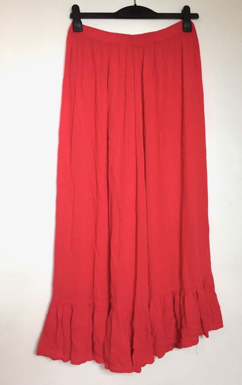 lång kjol volang