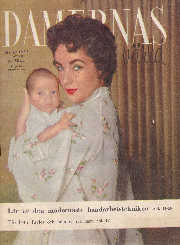 Damernas Värld 1955-29 Coca-Cola..Marilyn Monroe..Liz Taylor