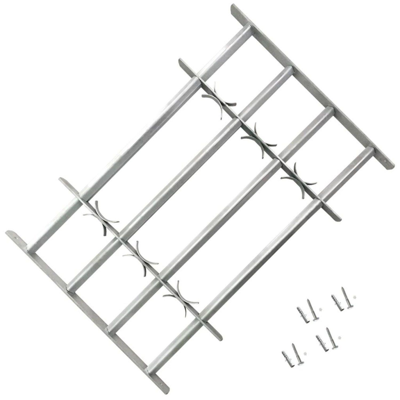 Justerbart Fönstergaller för fönster med 4 stänger 500-650 mm