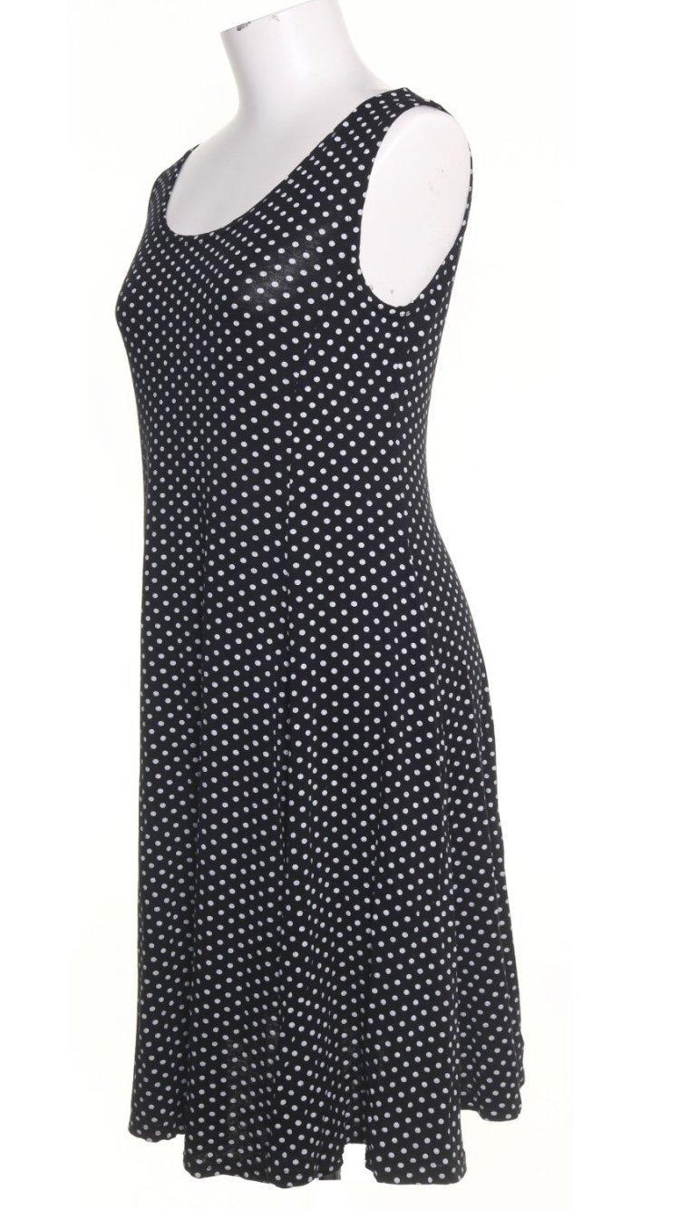 Rev D'elle klänning svart vit prickig strl L fr.. (357624718