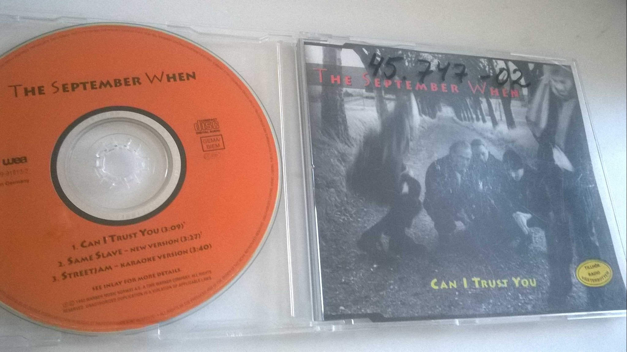 The September When - Can I Trust You, CD, Maxi-Single