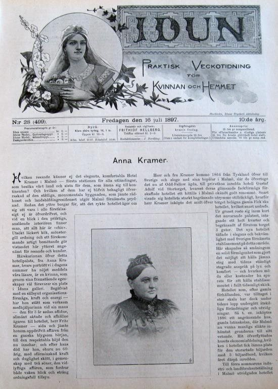 Idun Idun Idun 1897-28 Anna Kramer Stort Bildreportage 3eccf2