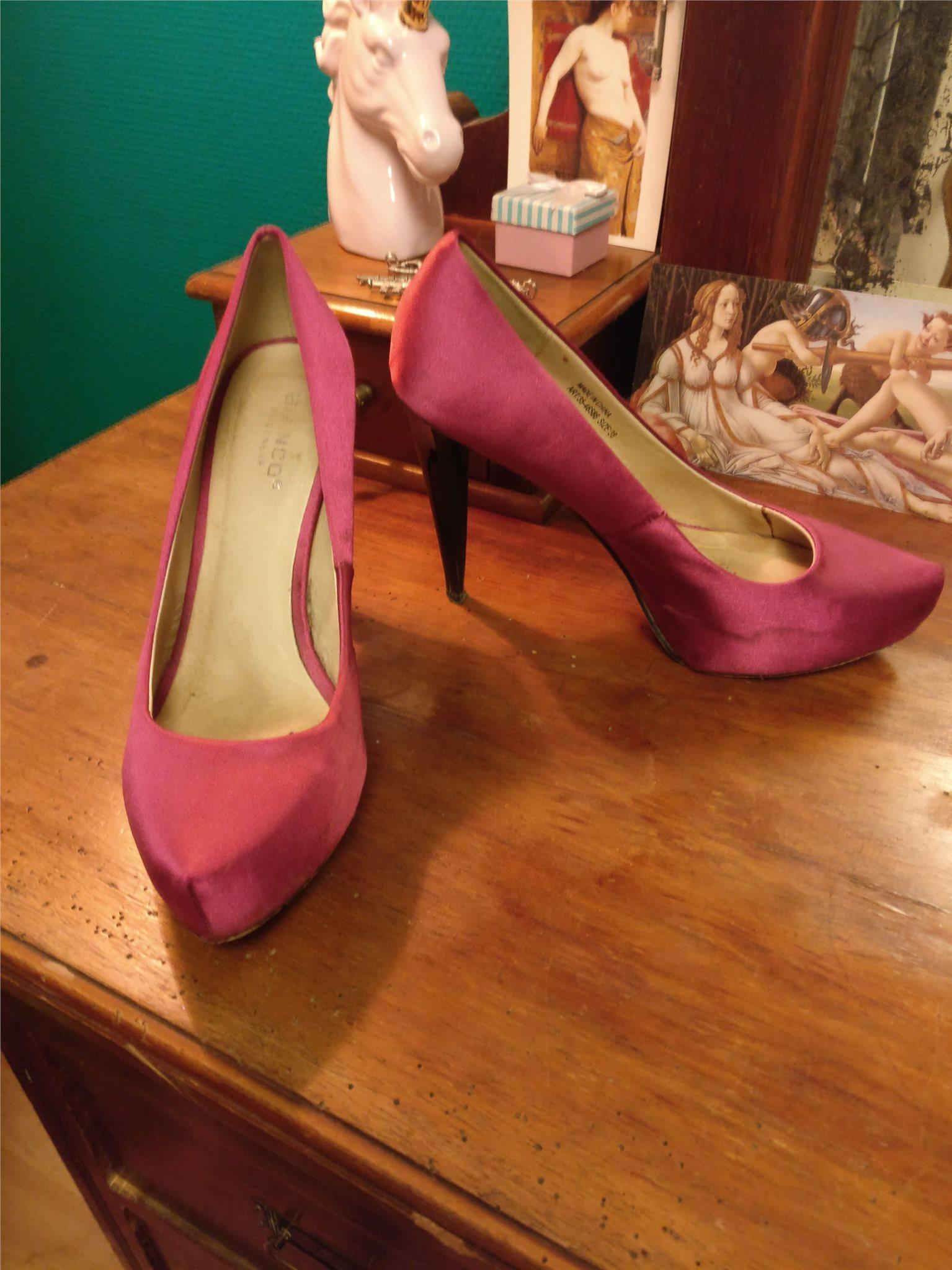 Rosa lila högklackade skor, pumps stl 38 siden (343609163
