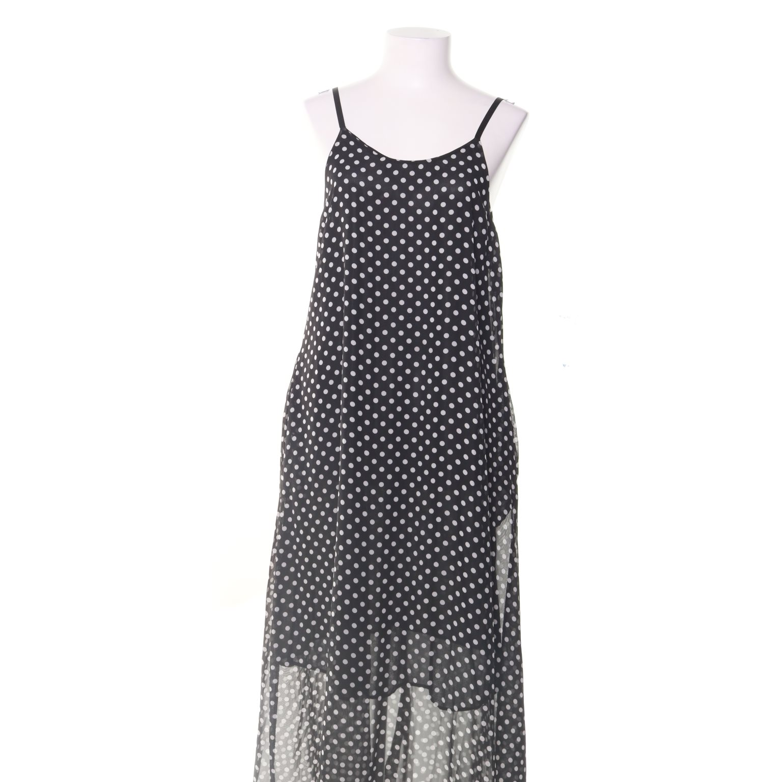 svart vit långklänning