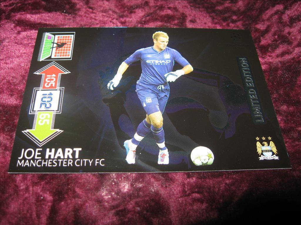 JOE HART-MANCHESTER CITY-LIMITED EDITION-UEFA CHAMPIONS LEAGUE 2012/2013