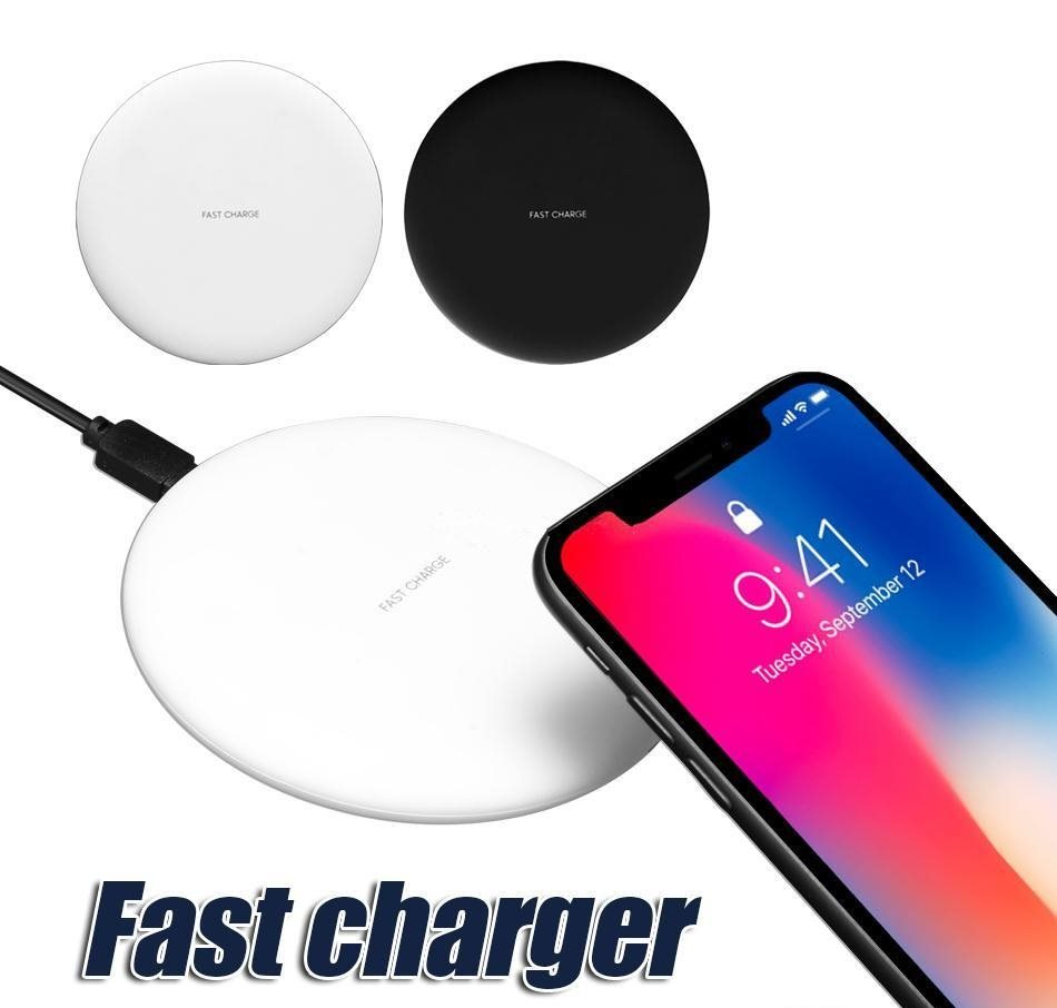 Universal Qi Wireless Power Charging Charger, Vit, 9V 1.67A 5V 2A