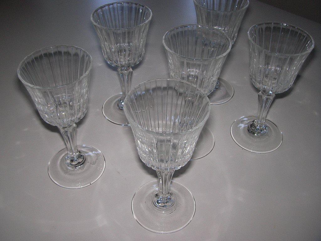 5 STARKVIN / NUBBE GLAS ULLE SLIPNING 1900-TAL. F.H. på Tradera.com -