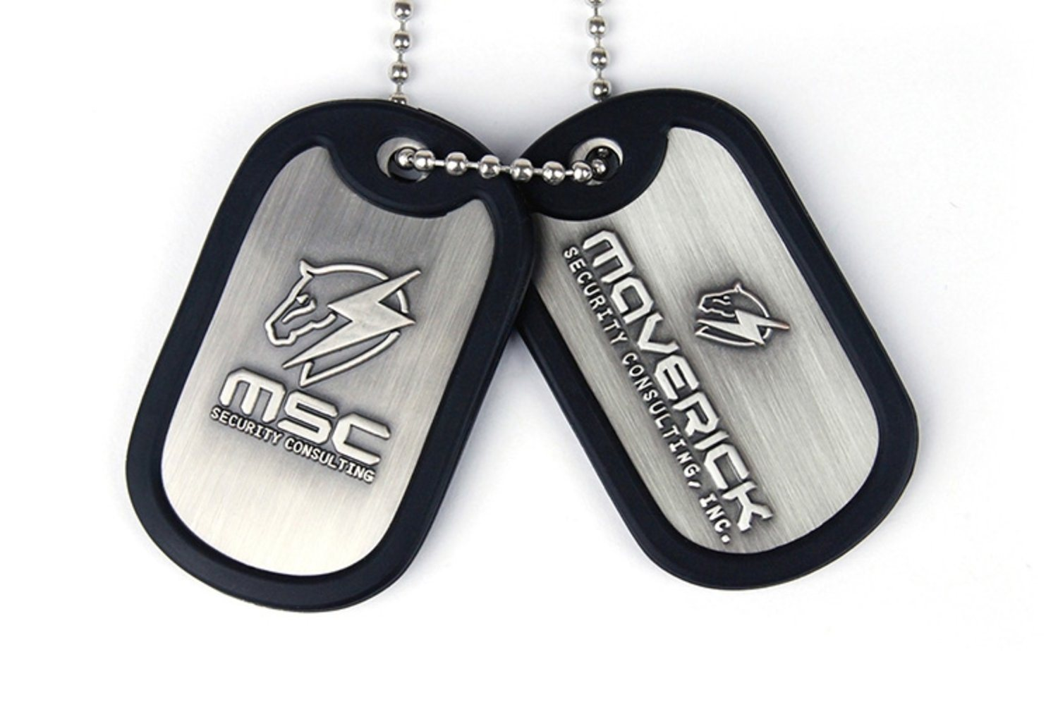 Metal Gear Rising Maverick Security Consulting Logo Dog Tags
