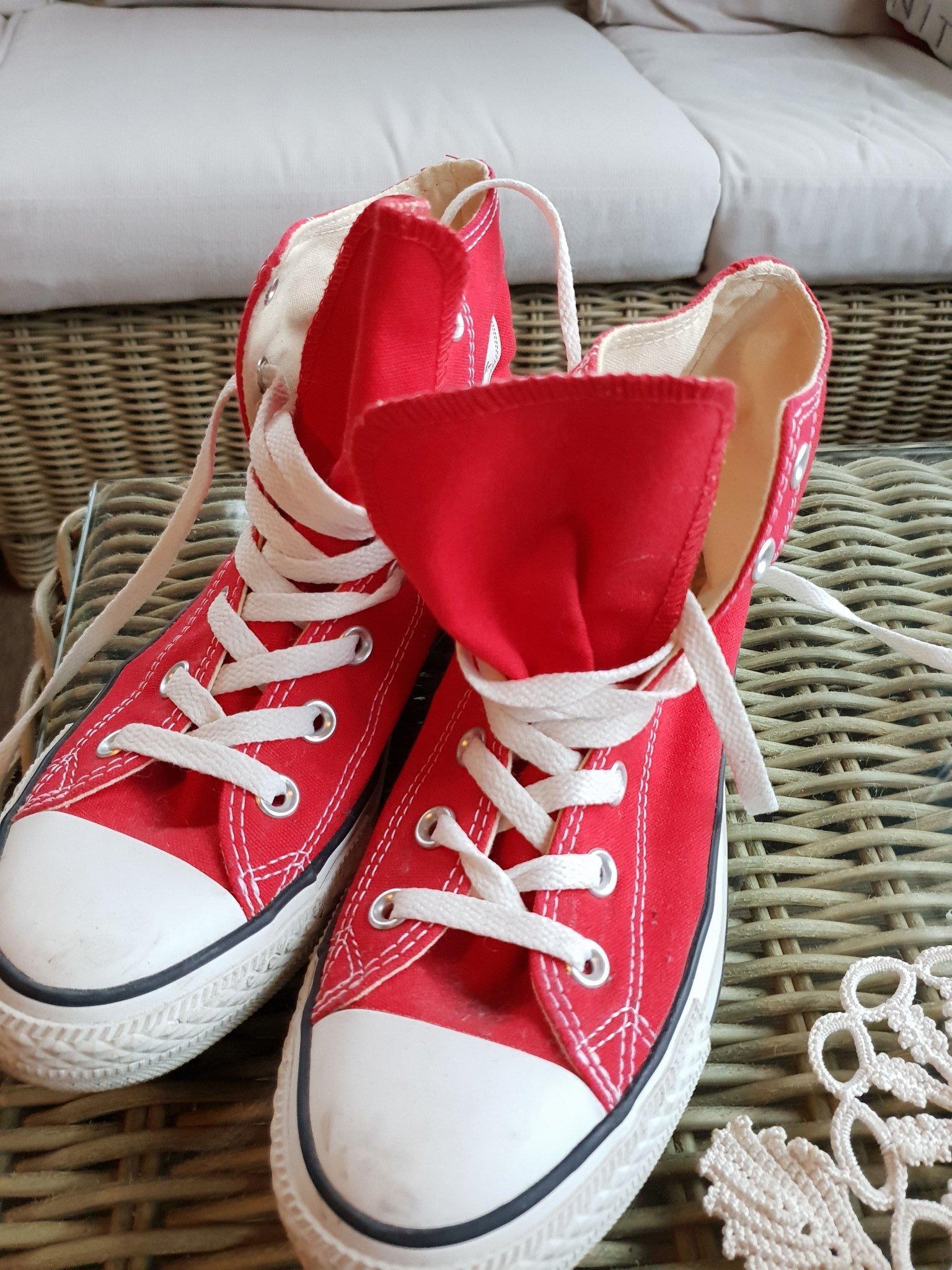 8b497ef505e Converse All Star röda 39 (352376909) ᐈ Köp på Tradera