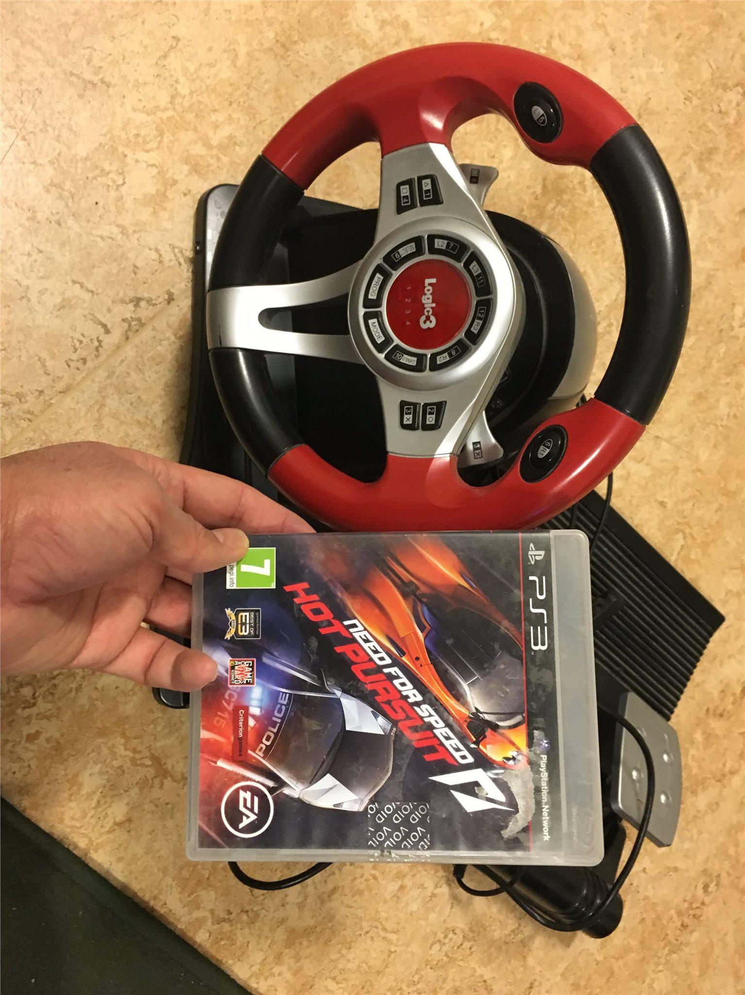 Playstation Wheel For Ps3 Ps4 Med Ett Bra Spel 336105238 ᐈ Köp