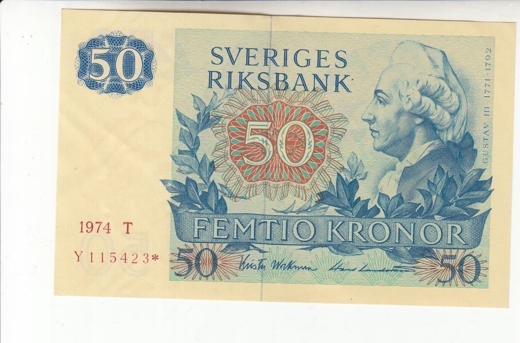 50 kronor 1974 stjärna ovikt 01/0