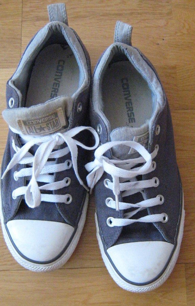 86b456b7364 vita - mörkgrå CONVERSE All*Star sneakers skor .. (346710212) ᐈ Köp ...