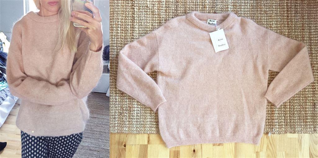 Acne Studios Mohair rosa tröja