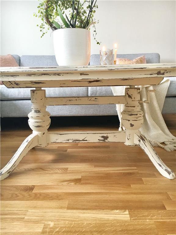 Soffbord soffbord lantligt : Vackert lantligt soffbord målat i kalkfärg och vaxat på Tradera.com -