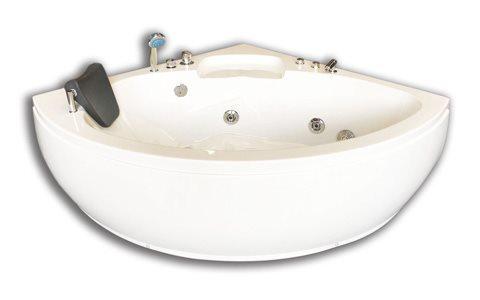 Bubbelbadkar hörn massagebadkar för 2 personer 135 x 135 cm - DUBAI Simba