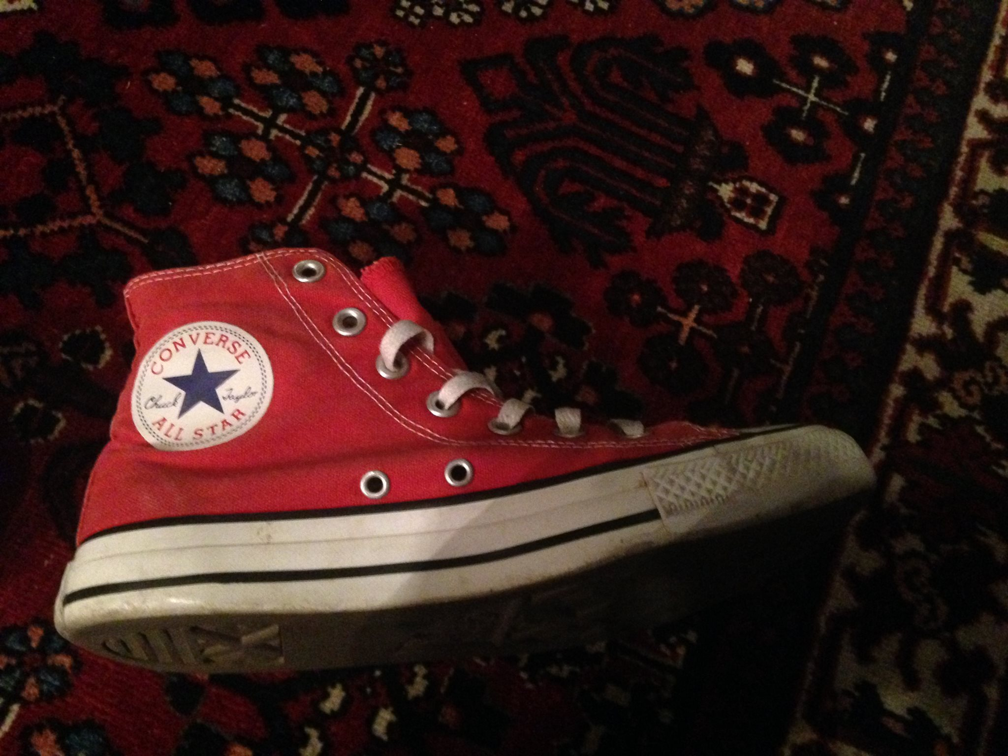 24931765c19 Röda Converse i storlek 38 (5,5) - Fint skick! (336941046) ᐈ Köp på ...
