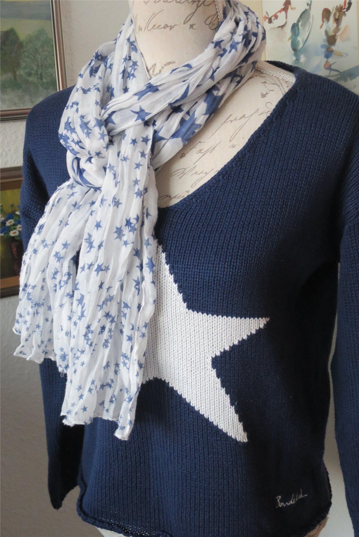 Bondelid blå tröja med vit stjärna + vacker vit.. (341006503) ᐈ Köp ... b1c7b8a3d91f5