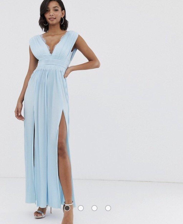 95567a96f6d5 Ljusblå balklänning från ASOS (349445900) ᐈ Köp på Tradera