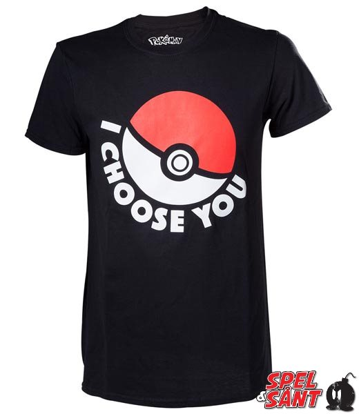 Pokemon I Choose You T-Shirt Svart (X-Small)