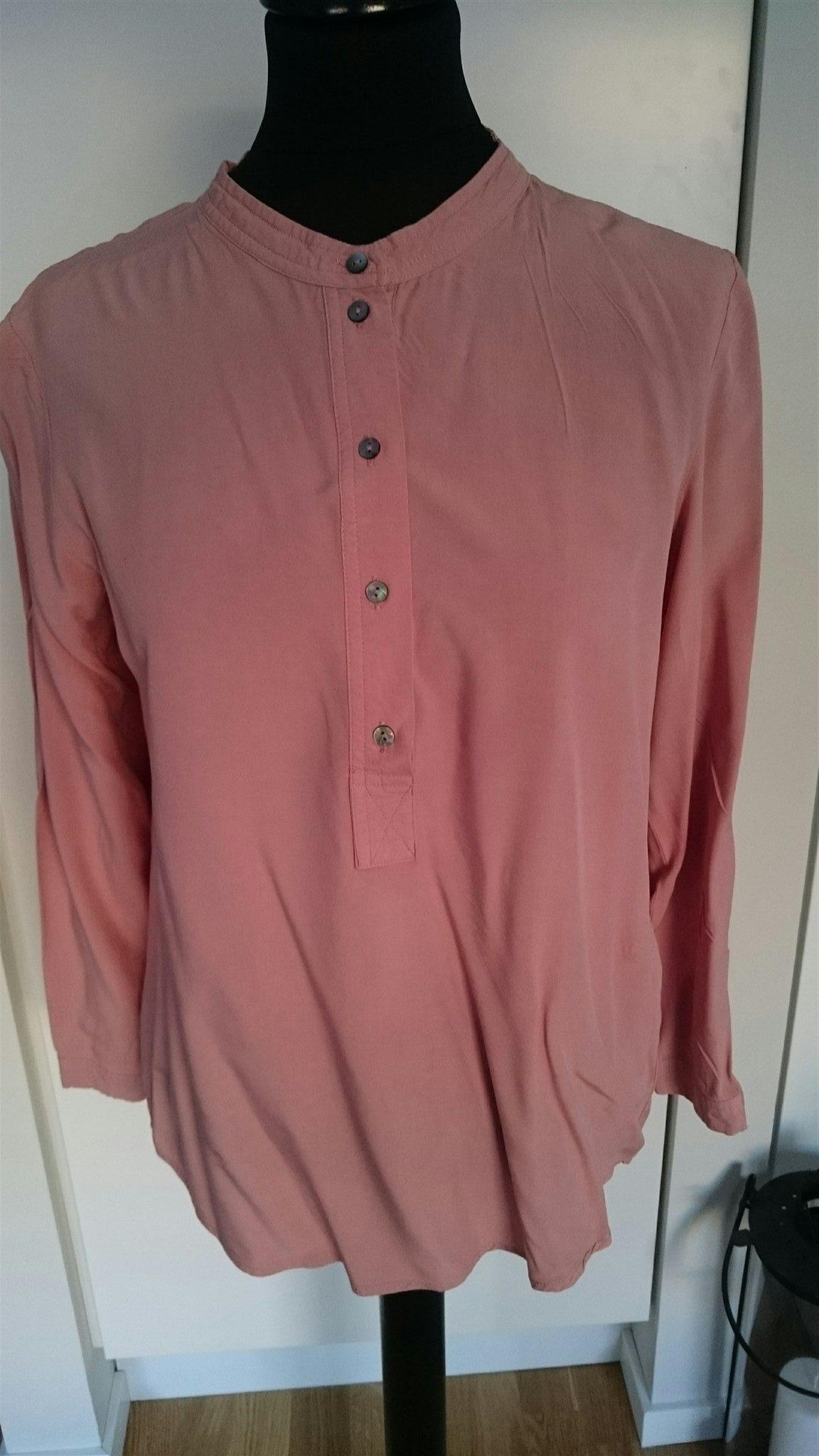 Blus hög krage stl 36 38 only nova tunic tunika dusty pink gammelrosa rosa 13603ae8367d4