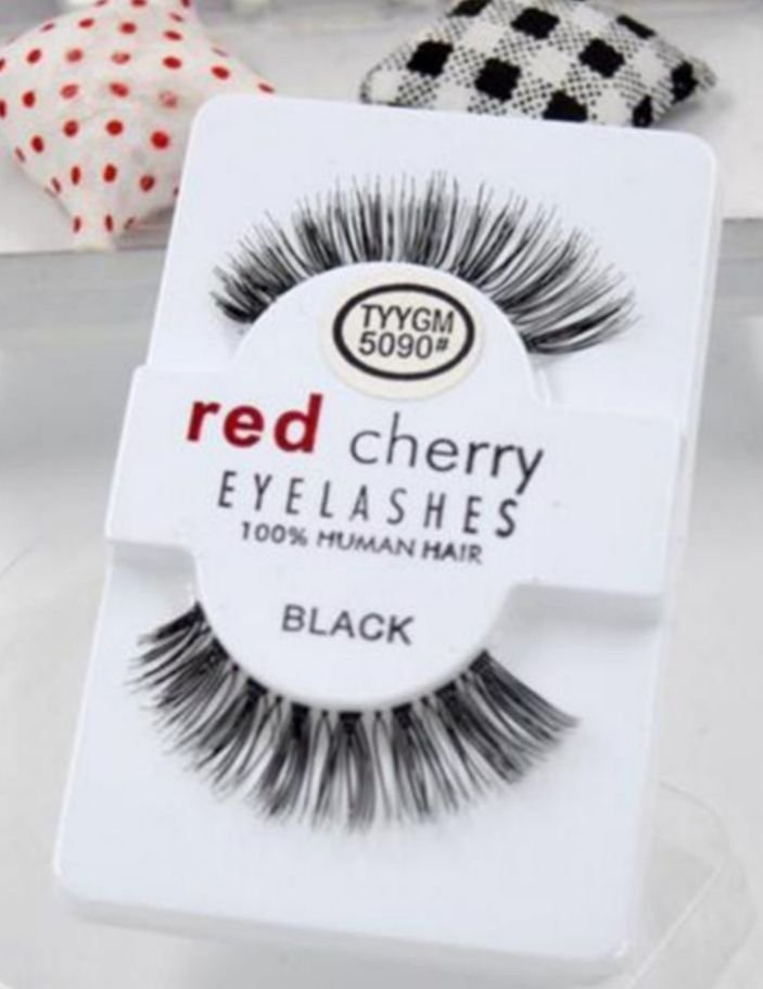 red cherry ögonfransar